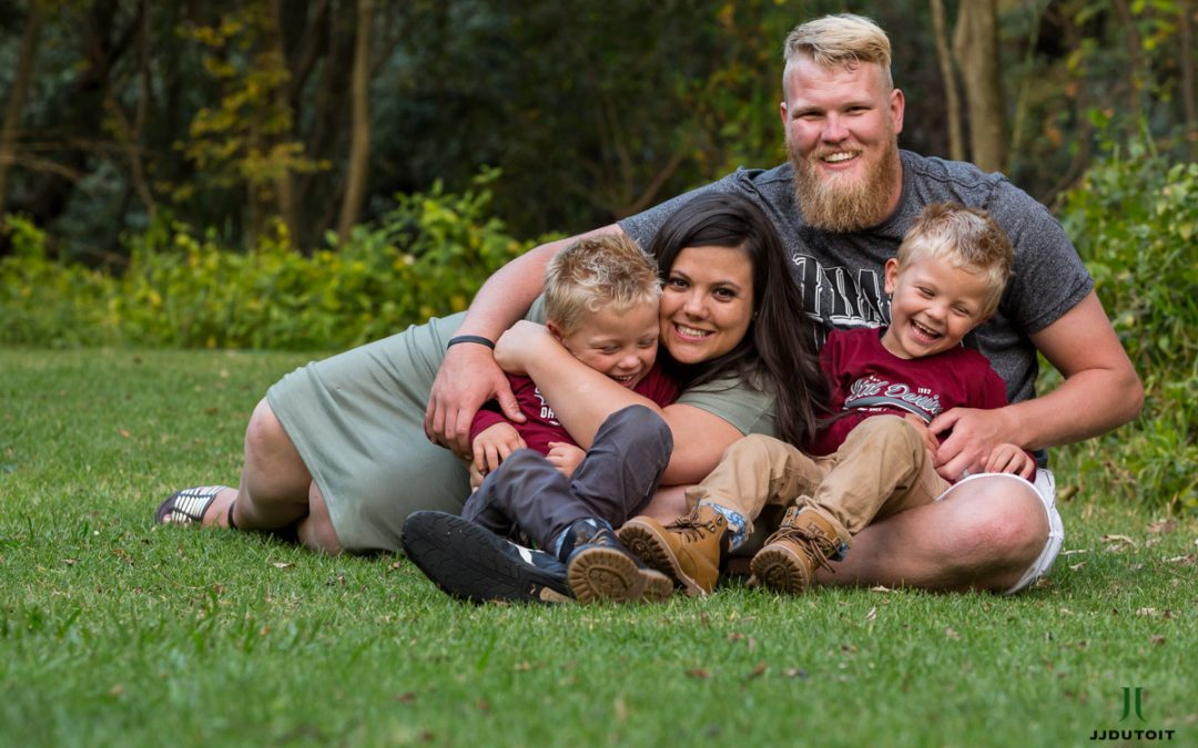 Family Photo Shoot of the van Stade Family at the Walter Sisulu Botanical Garden in Roodepoort