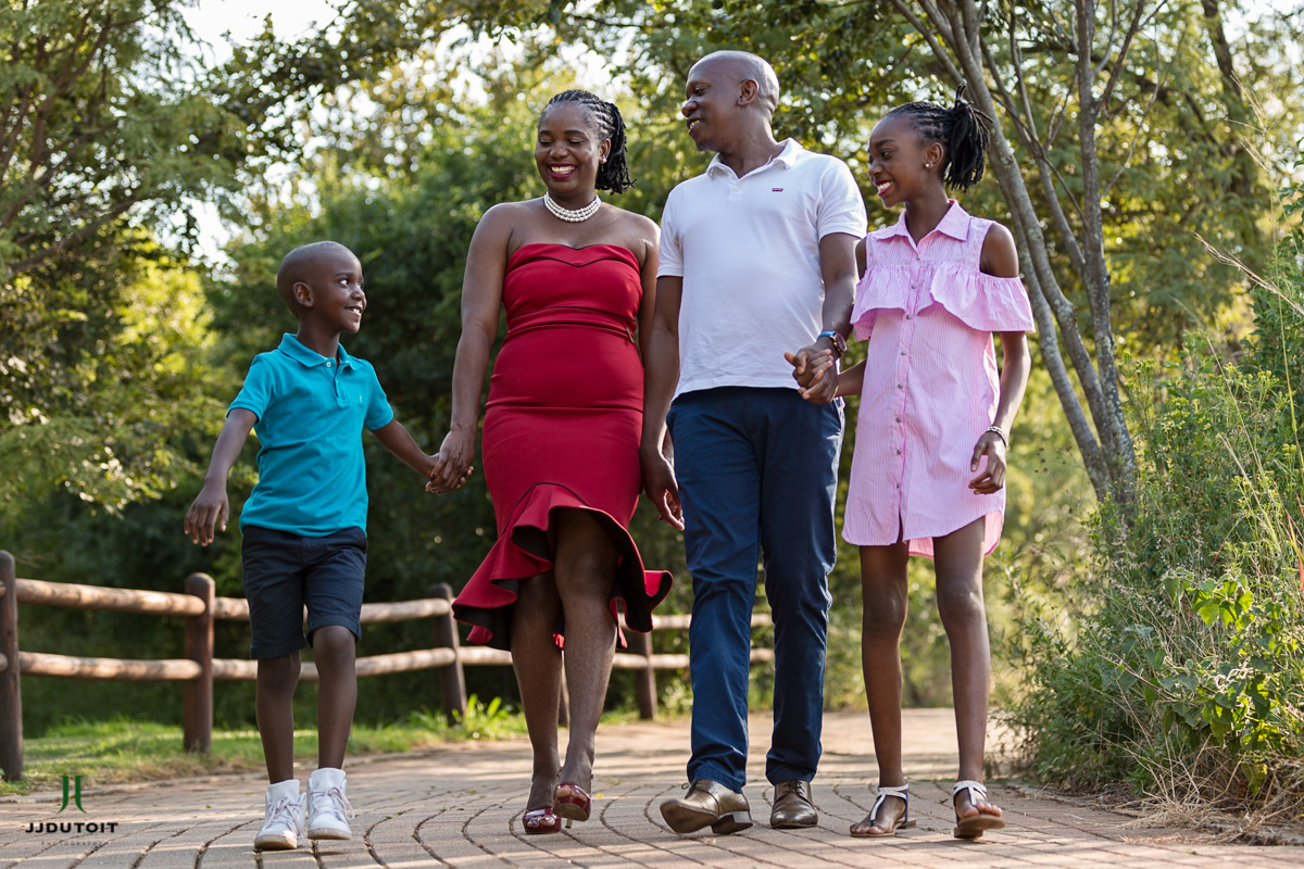 Family Photo Shoot of the Jack and Sharon Shingange Family at the Walter Sisulu Botanical Garden in Roodepoort near Johannesburg