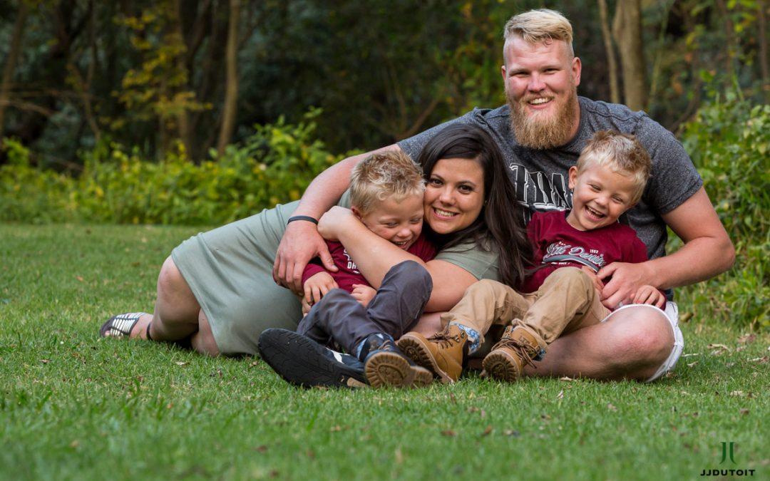 Family Photo Shoot of the van Stade Family at the Walter Sisulu Botanical Garden in Roodepoort near Johannesburg