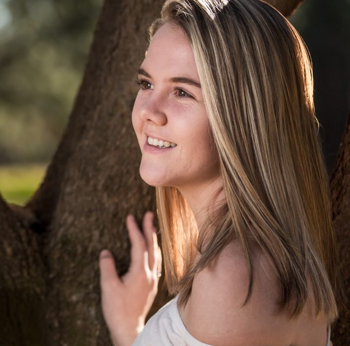 Senior Female Photo Shoot of Tyler Guest within a beautiful garden at Walkerville situated in the Vaal Triangle, Gauteng